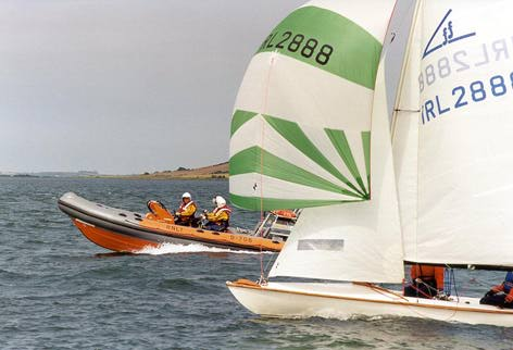 Blue Peter V in action on Strangford Lough